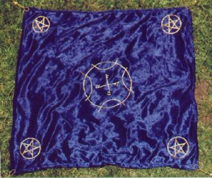 Blue Velvet Elemental Altar Cloth