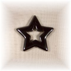 Natural Hematite Pentacle - Pierced - Click for detail view