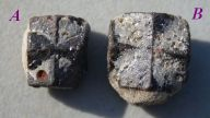 Staurolite - Fairy Cross - 90 Degrees - Nicely formed - Large Top Grade - BACK VIEW - Click for Detail View