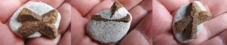 Staurolite - Fairy Cross - Nicely formed - Large Top Grade in Mica Schist - Double Sided - Click for Detail View