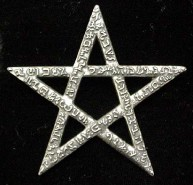 Huge Scriptagram Pentacle Pendant - also suitable as a wall icon - Pewter - click for detail view