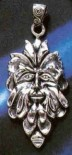 Sterling Silver Greenman Pendant - Click for detail VIEW