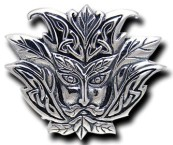 Sterling Silver Leafy Greenman Pendant - Click for detail VIEW