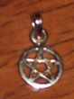 photo of Solid 9ct Gold - 9mm dia - Small Pentagram Pendant or Charm by ShadowSmith - click for detail view